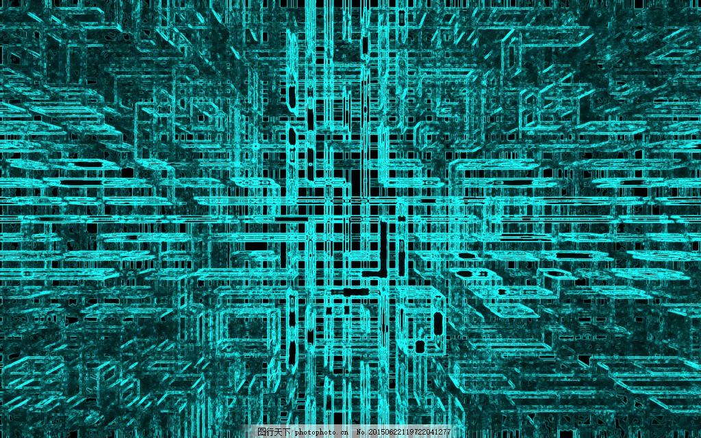 电路板 设计器材 电路系统 手绘 青色 天蓝色