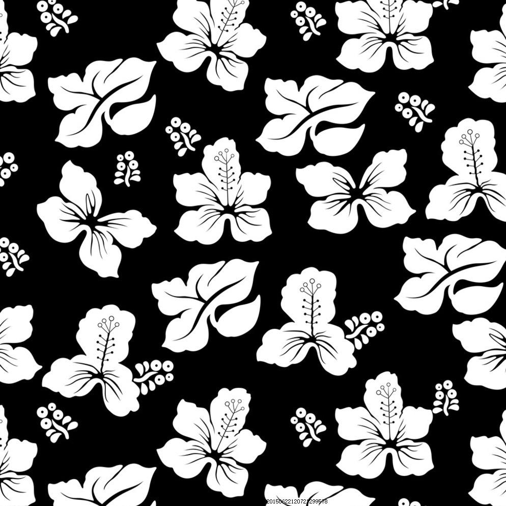 黑白花裙子匹布 黑白 裙子 花朵 匹布 数码印 设计 底纹边框 花边花纹图片