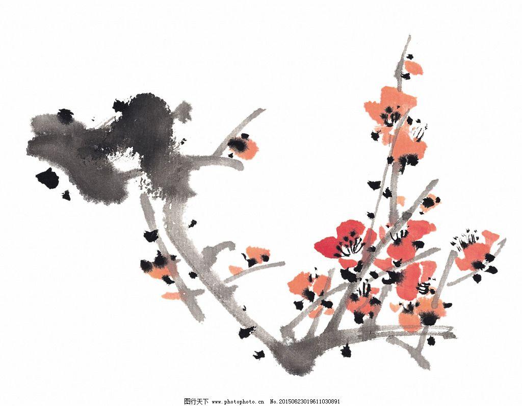 中国画梅花免费下载 国画 水墨 水墨风格 水墨风景 水墨画 素材 植物