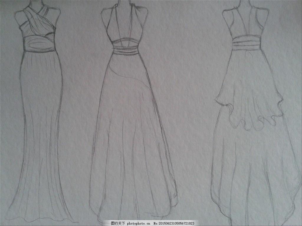 婚纱设计 伴娘服 裙子 服装 灰色