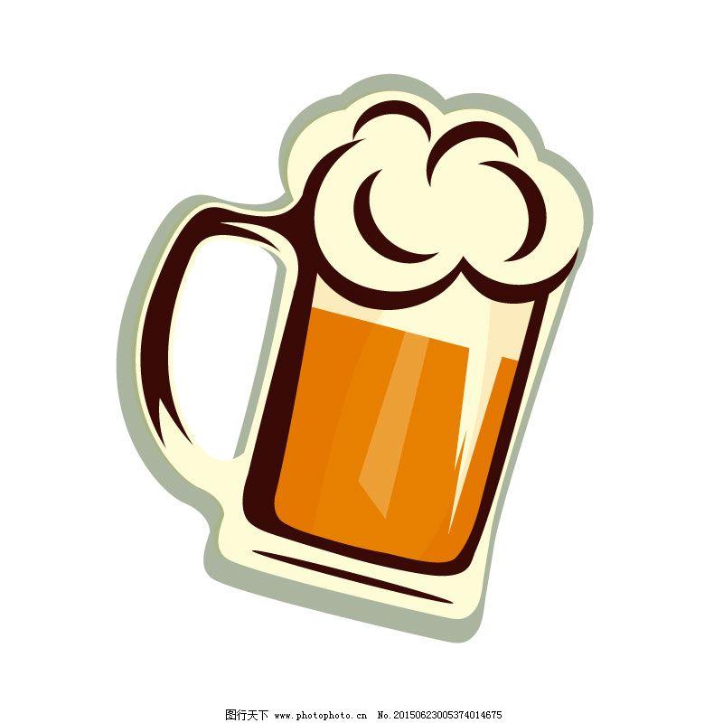 杯子 卡通 啤酒 饮料 扎啤 卡通 啤酒 扎啤 饮料 矢量 杯子 矢量图