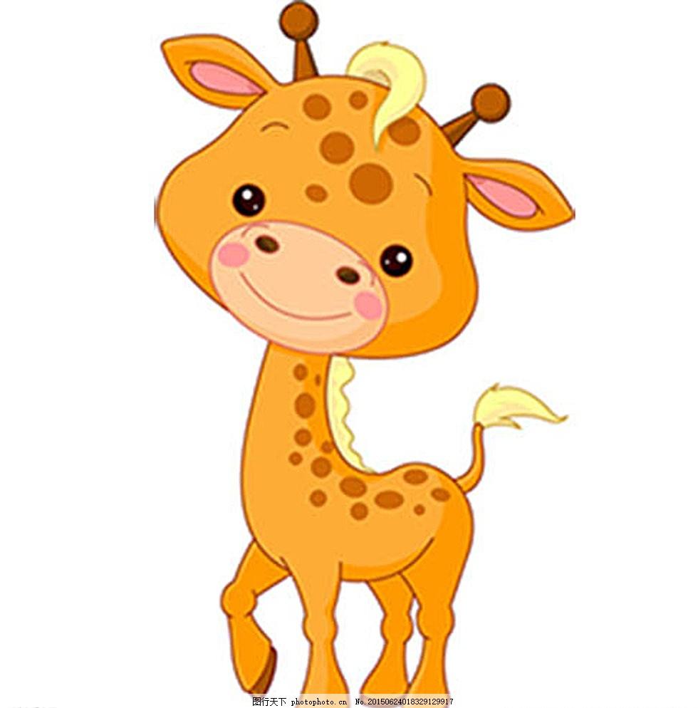 卡通动物 梅花鹿 可爱 动画图片