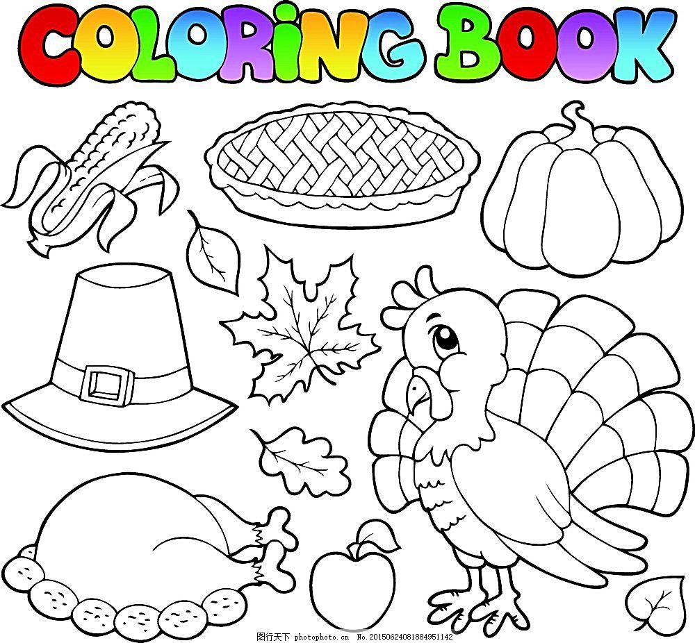卡通插画 动物简笔画 儿童简笔画 着色书 填色书 陆地动物 生物世界
