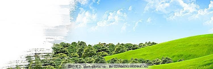 粉刷田园banner背景 白色