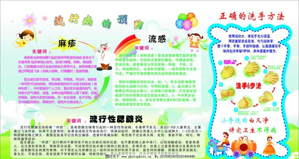 幼儿园洗手步骤展板图片