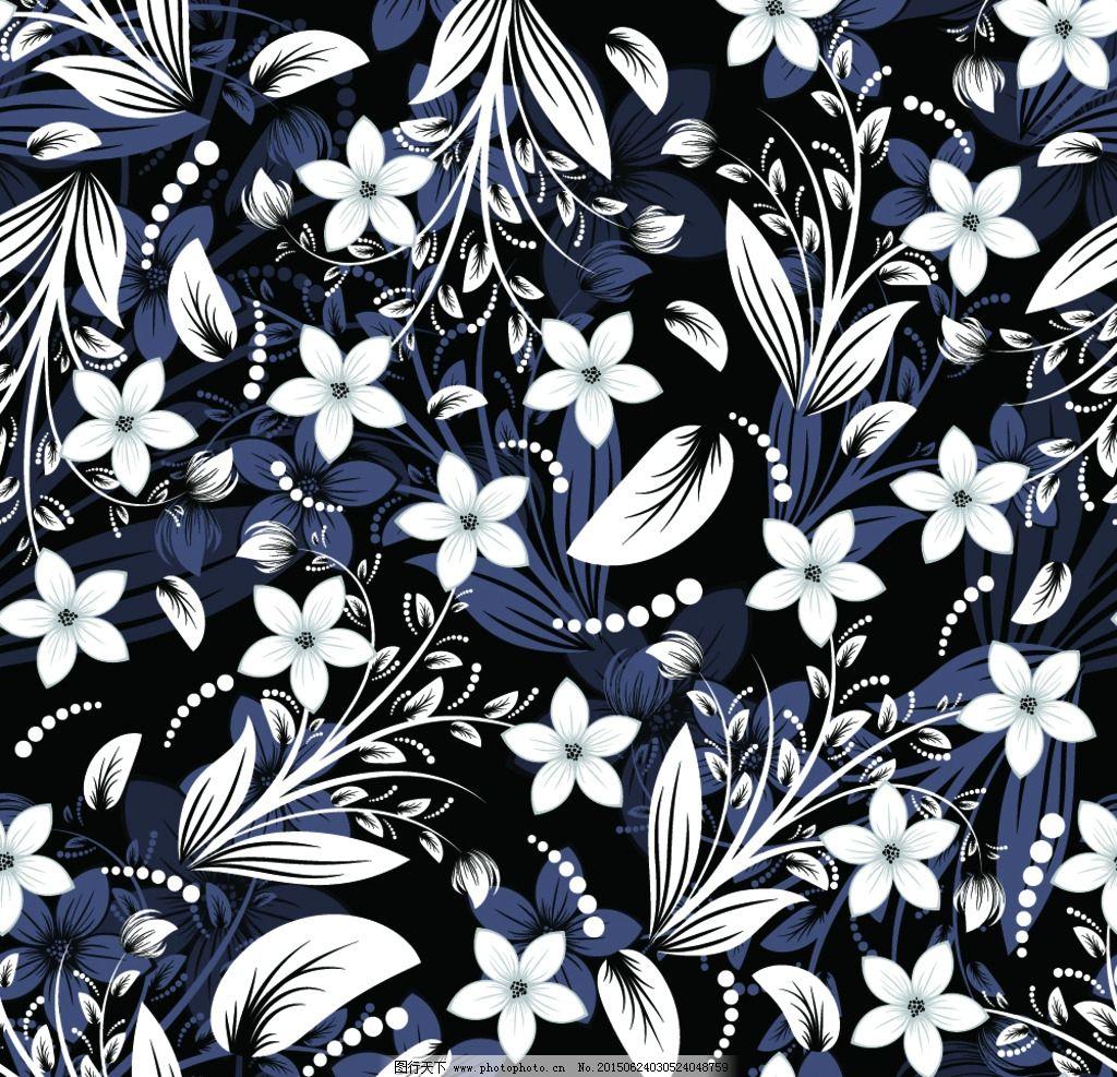 黑白花纹背景图片_卡通设计_广告设计_图行天下图库