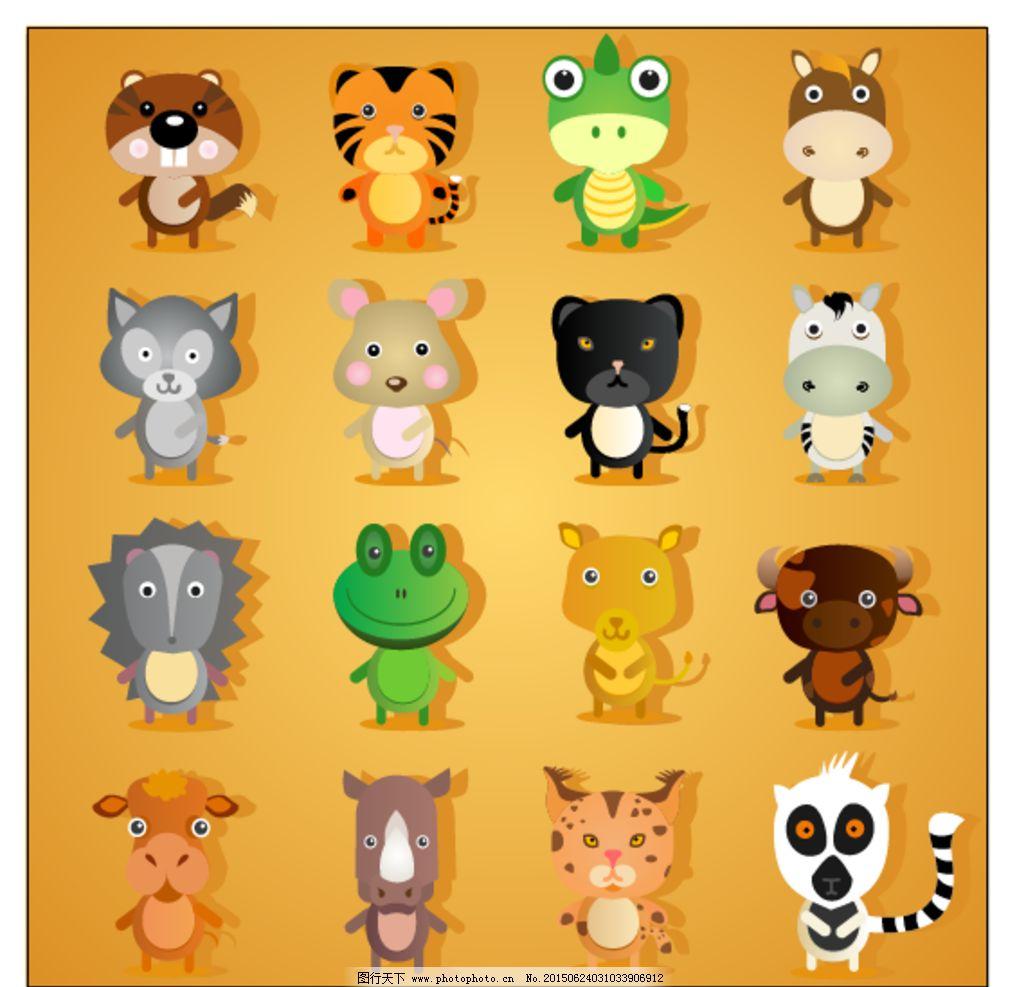 卡通动物背景图片