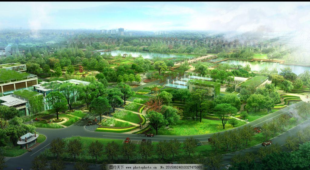 公益绿化公园免费下载 景观 绿化 鸟瞰 园林 园林 绿化 景观 鸟瞰
