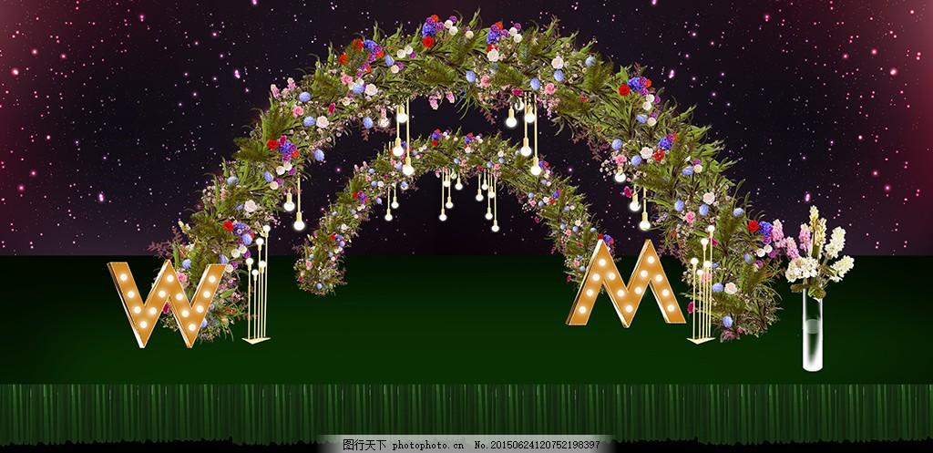 婚礼效果图 森系 森系婚礼 婚礼        复古 复古花纹 复古婚礼效果