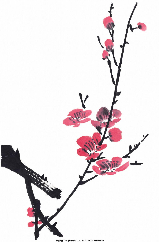 梅花水墨畫_傳統藝術_文化藝術