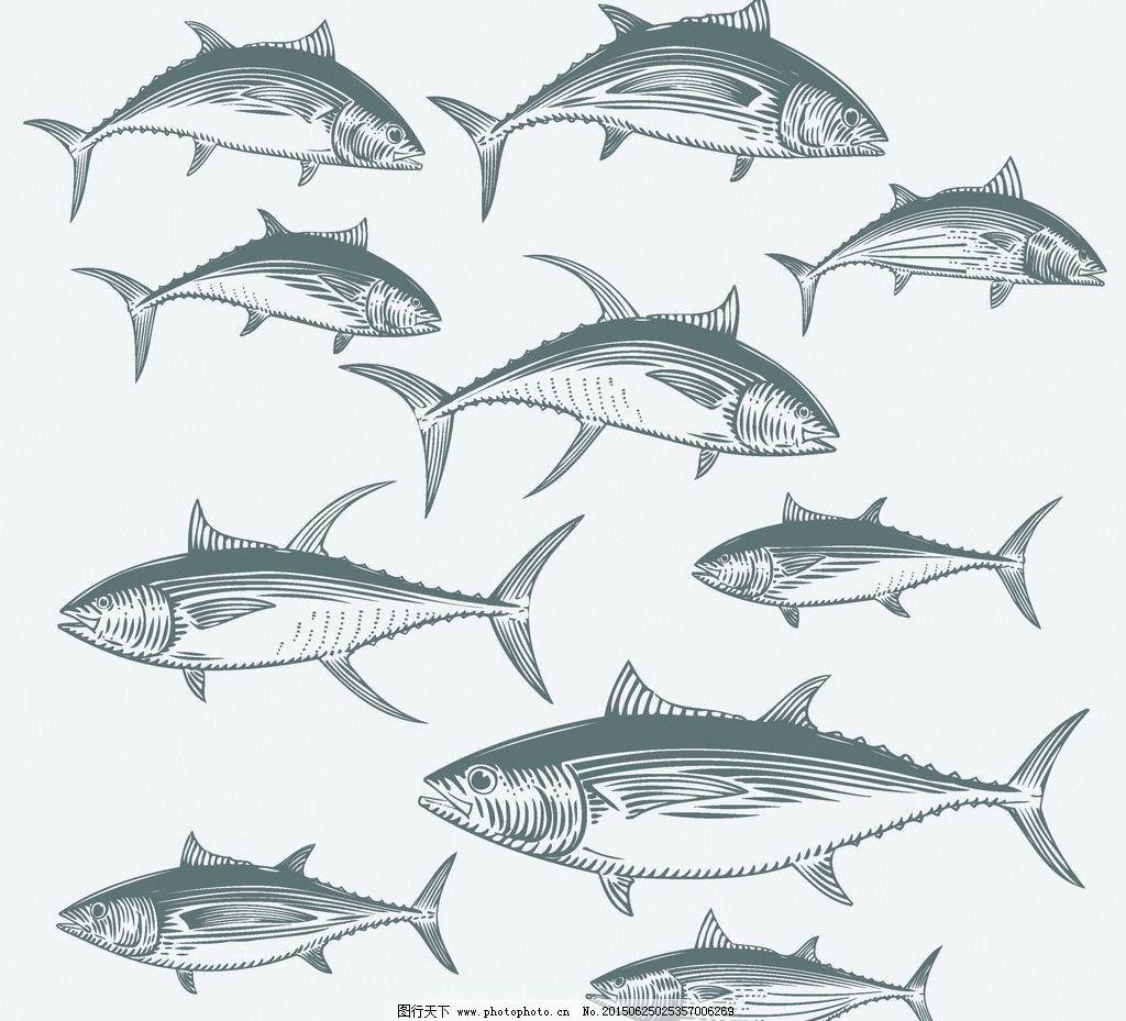 金鱼的手绘图片简