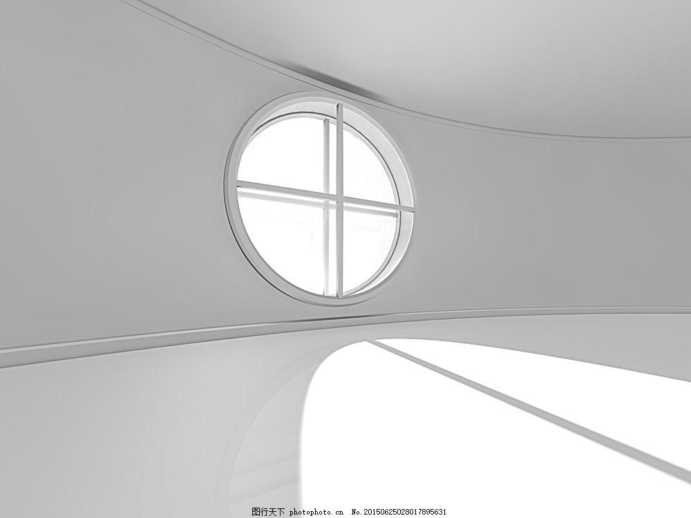 办公楼圆形窗户设计图,室内设计 效果图 环境家居 -图