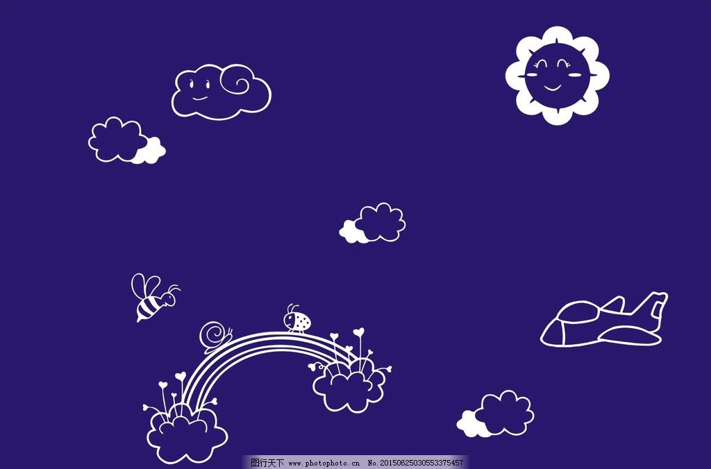 卡通背景 硅藻泥矢量图 太阳 云朵 汽车 船 海面 刻绘矢量图