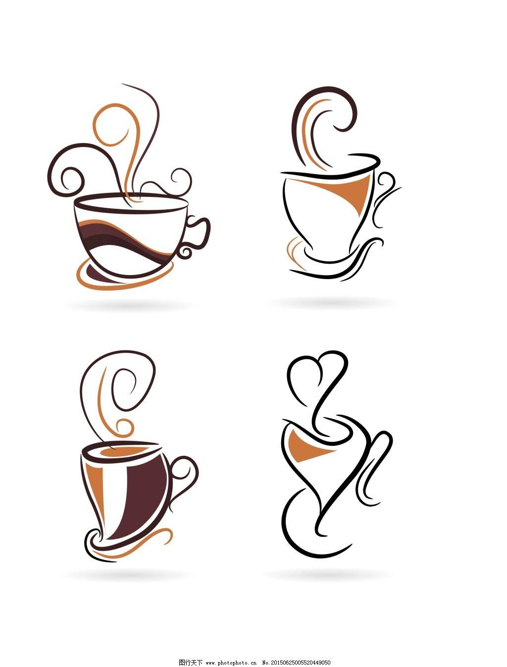 线描咖啡杯免费下载 杯子 咖啡 图形 线描 线描 咖啡 杯子 图形 矢量图片