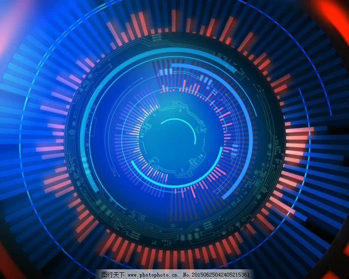 圆形数字化科技感背景素材