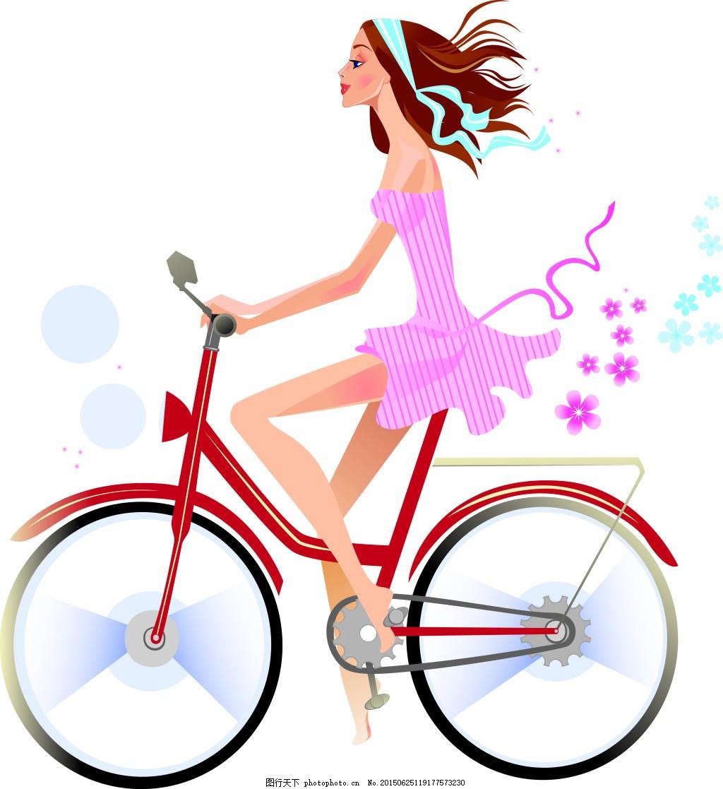 骑自行车的女生