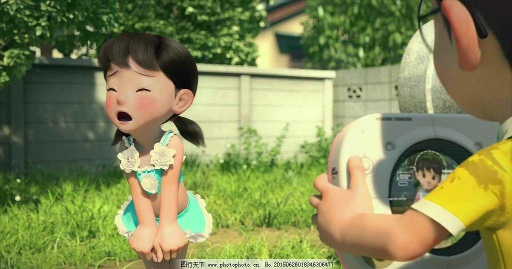 哆啦a梦 大熊 静香 伴我同行 蓝胖子 3d 电影 壁纸 草地 动漫,游戏 设