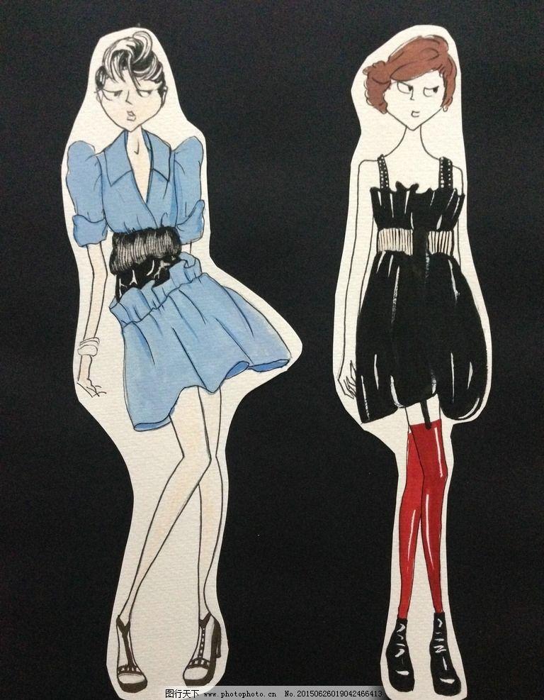 服装款式色彩设计--草图图片图片
