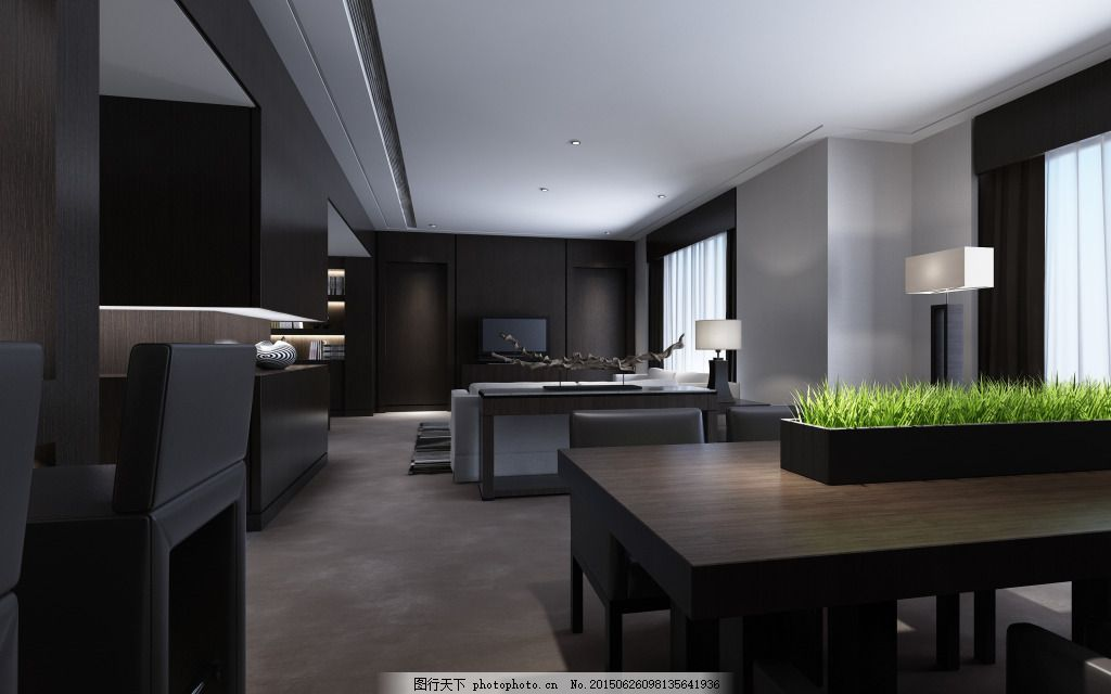 室内吊顶装修效果图 中式客厅 欧式客厅 中式沙发 欧式沙发 室内装修