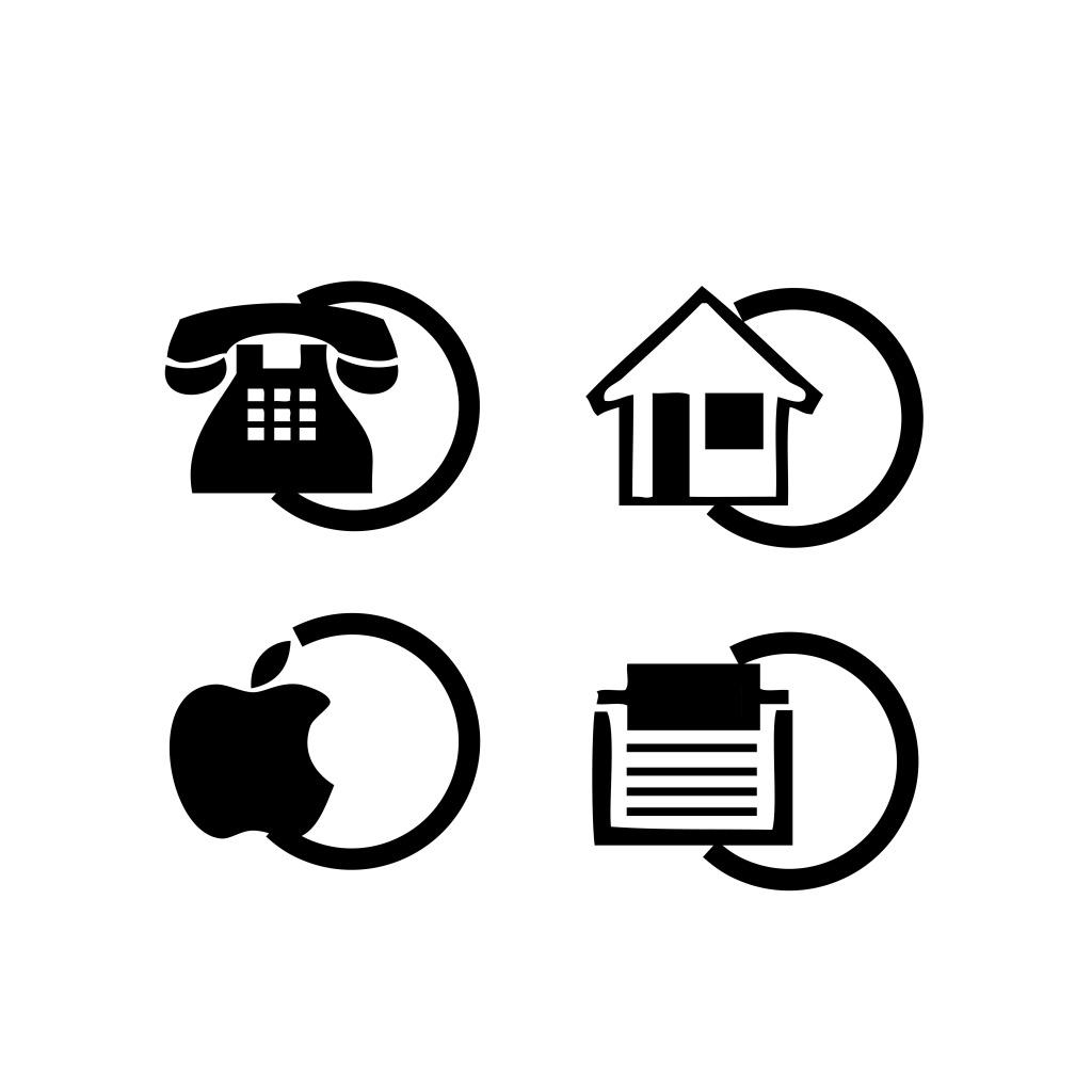 电话手机苹果传真地址图标_广告设计_矢量图_图行天下