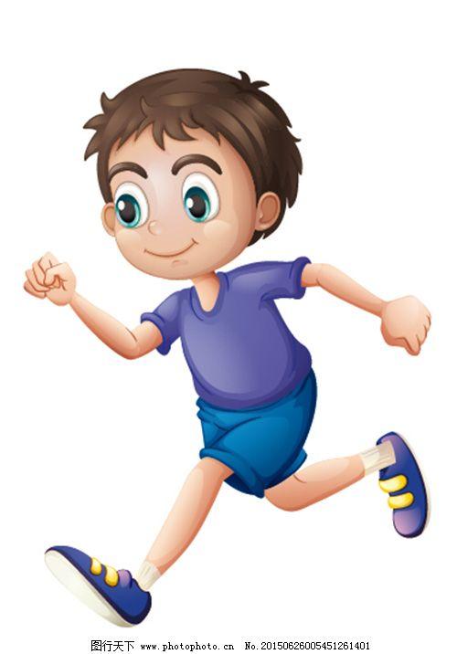 卡通男孩免费下载 卡通 男孩 跑步 卡通 男孩 跑步 矢量图 矢量人物