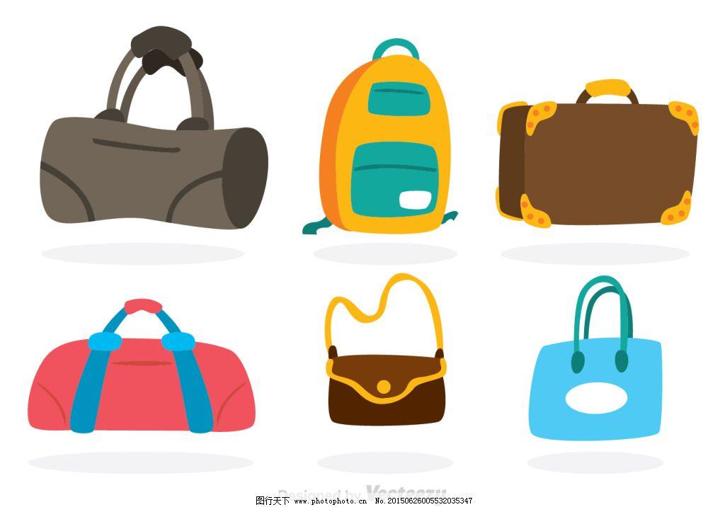 包包设计图免费下载 ai 彩色 蓝色 矢量图 矢量图 ai 彩色 蓝色 其他