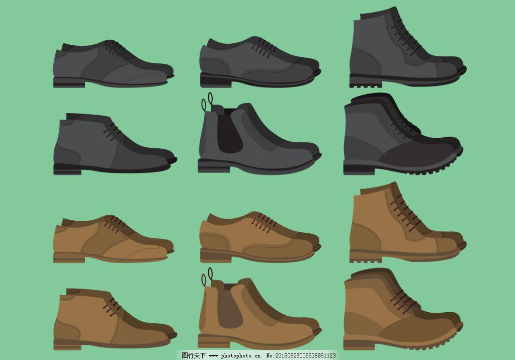 卡通鞋子彩色简笔画