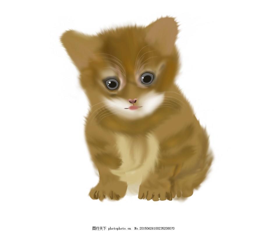 小猫咪鼠绘 猫咪 鼠绘 动物 小猫咪 小动物 psd 白色