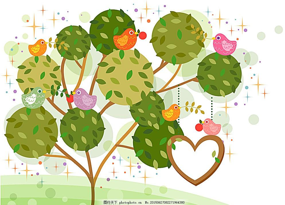 树木背景贴图素材 装饰 花草贴图 幼儿园贴图 学校贴图 植物 花朵