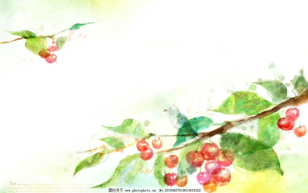 时尚手绘花朵画图片