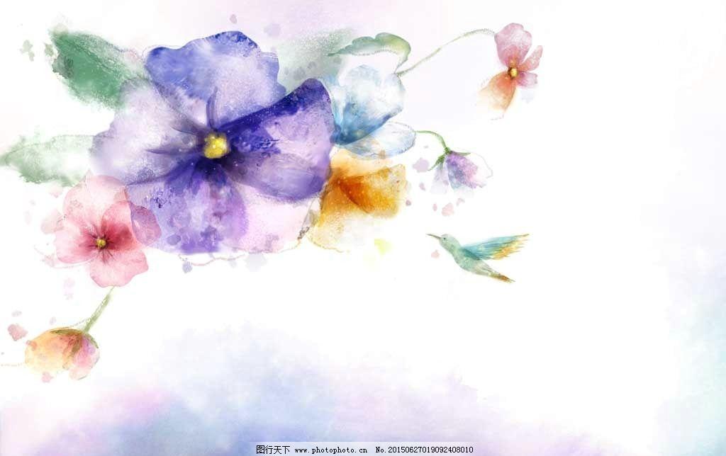 手绘高清花卉图片