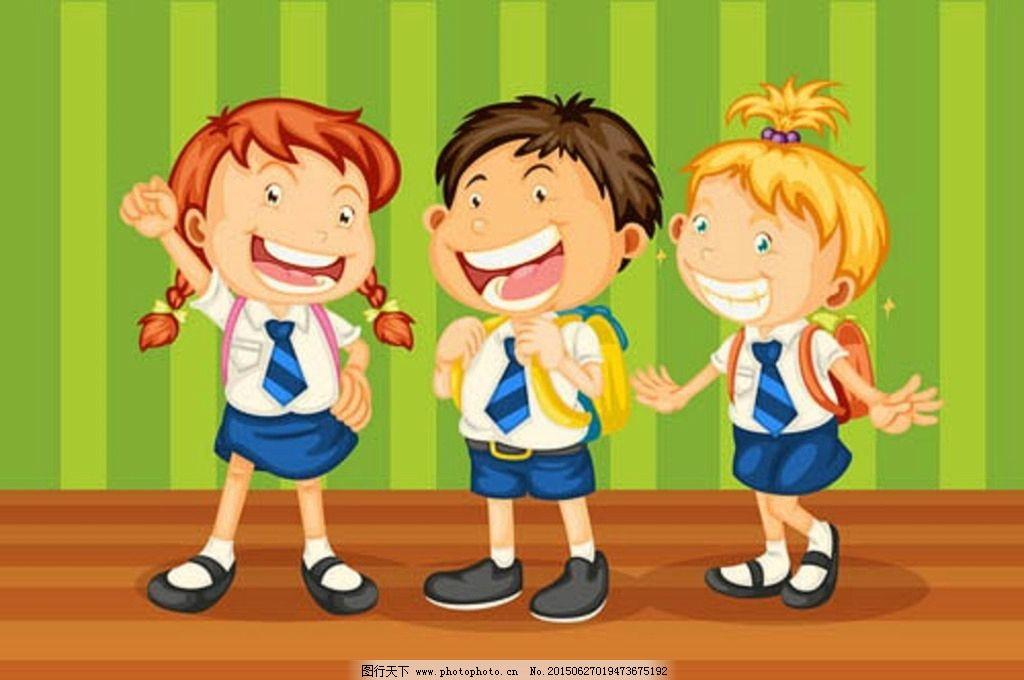 卡通人物 学生 卡通 玩耍 儿童 设计 矢量素材 孩子 人物设定 游戏
