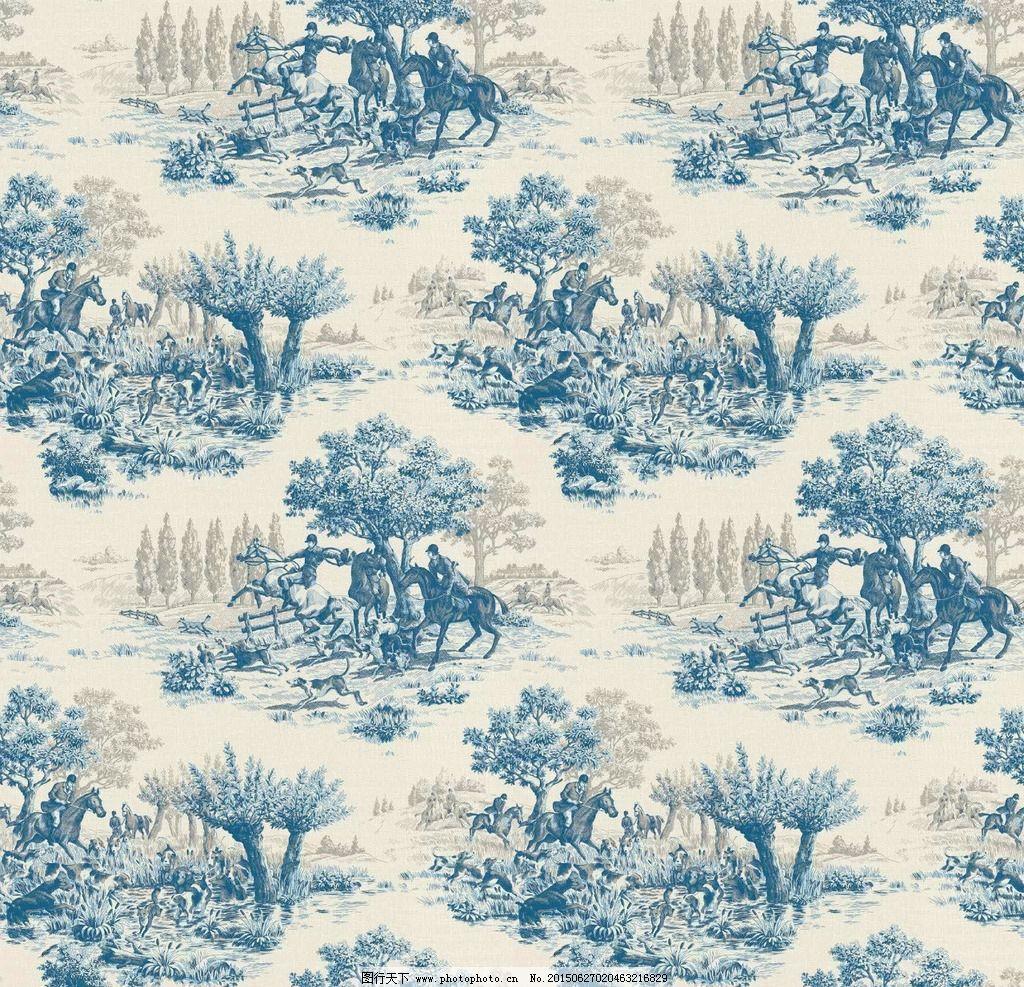英式 现代 简约 壁纸 墙纸 人物 田园 树 马 壁纸 设计 底纹边框 边框图片