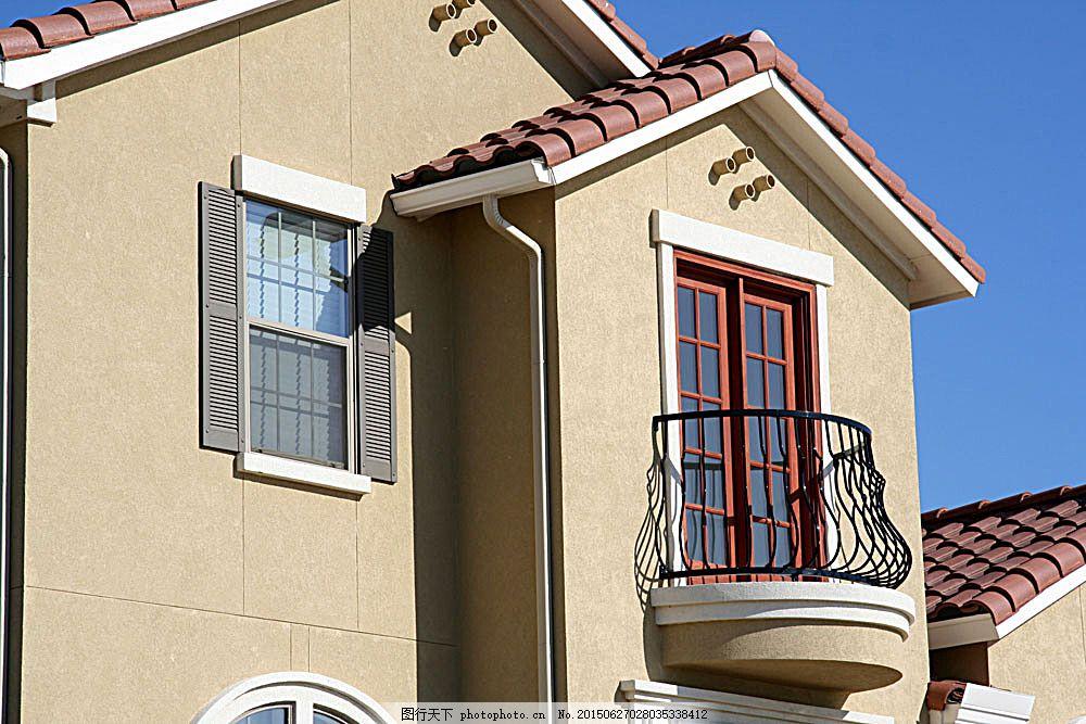 别墅一角窗户 别墅庭院 欧式别墅 别墅设计 小洋房 豪华别墅 房子