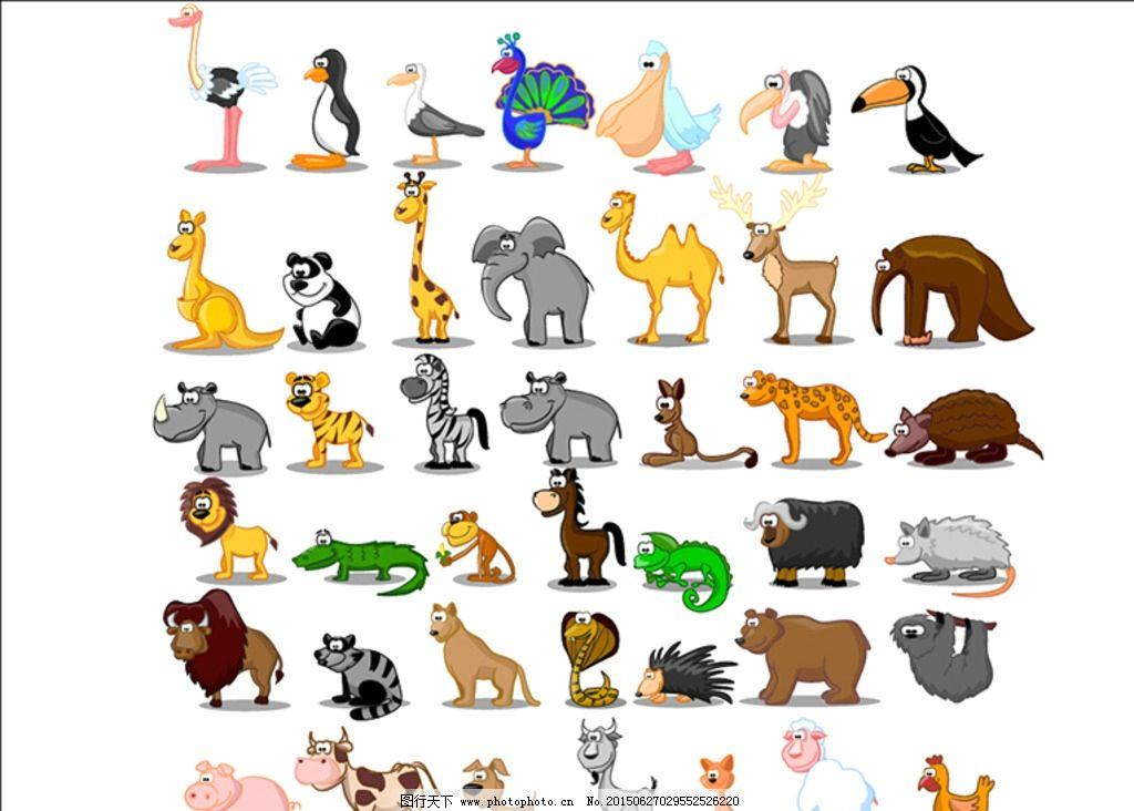矢量小动物大全图片