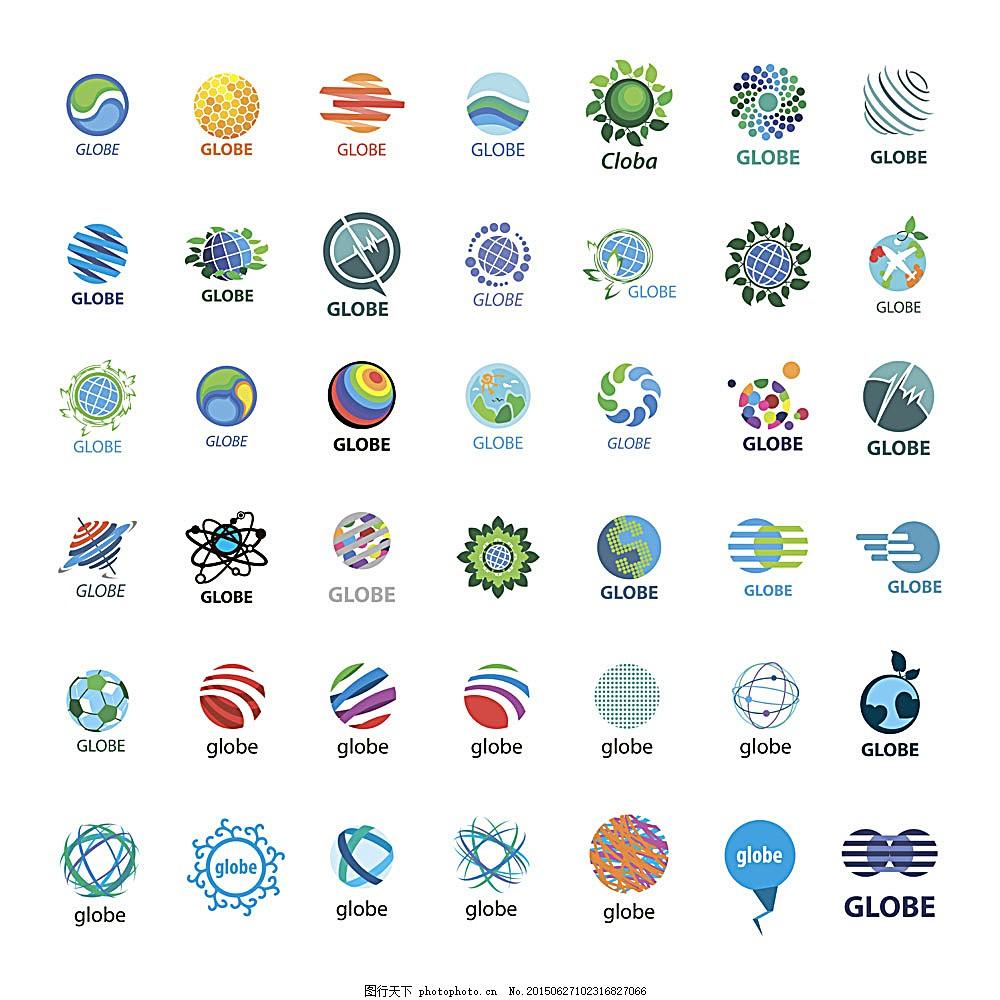 圆形logo设计 标志设计 商标设计 行业标志 标志图标 矢量素材图片
