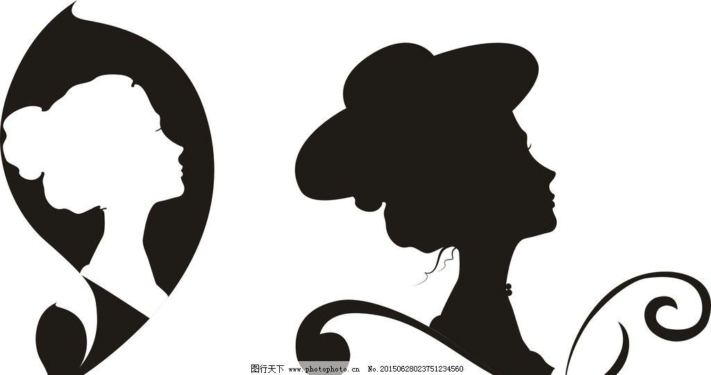 女人 抽象 头像 手绘时尚 黑白美女 都市 休闲 白领 时尚女人