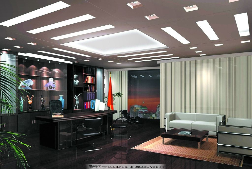 室内装修 办公室设计 办公室布置 办公室天花 办公室灯光 地板 墙饰
