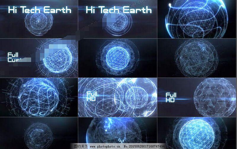 震撼唯美的科技点线球体演绎动画ae