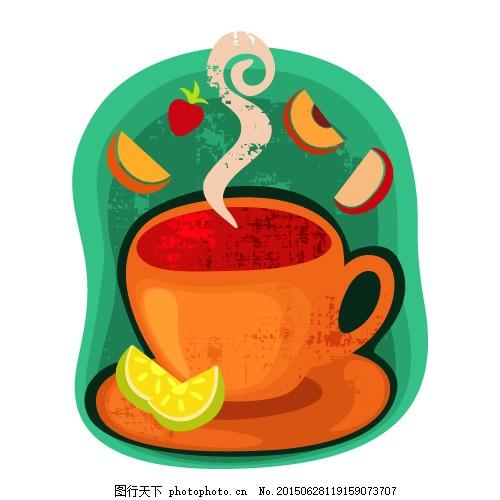 咖啡手绘图矢量图 咖啡 手绘图 矢量图 咖啡杯 卡通 饮料 柠檬 cdr