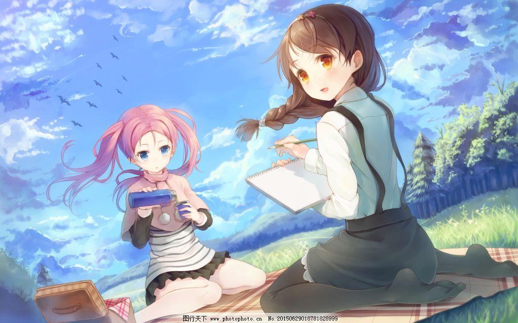 日系风格手绘动漫壁纸下载免费下载 动漫少女 清新 素描 唯美 唯美
