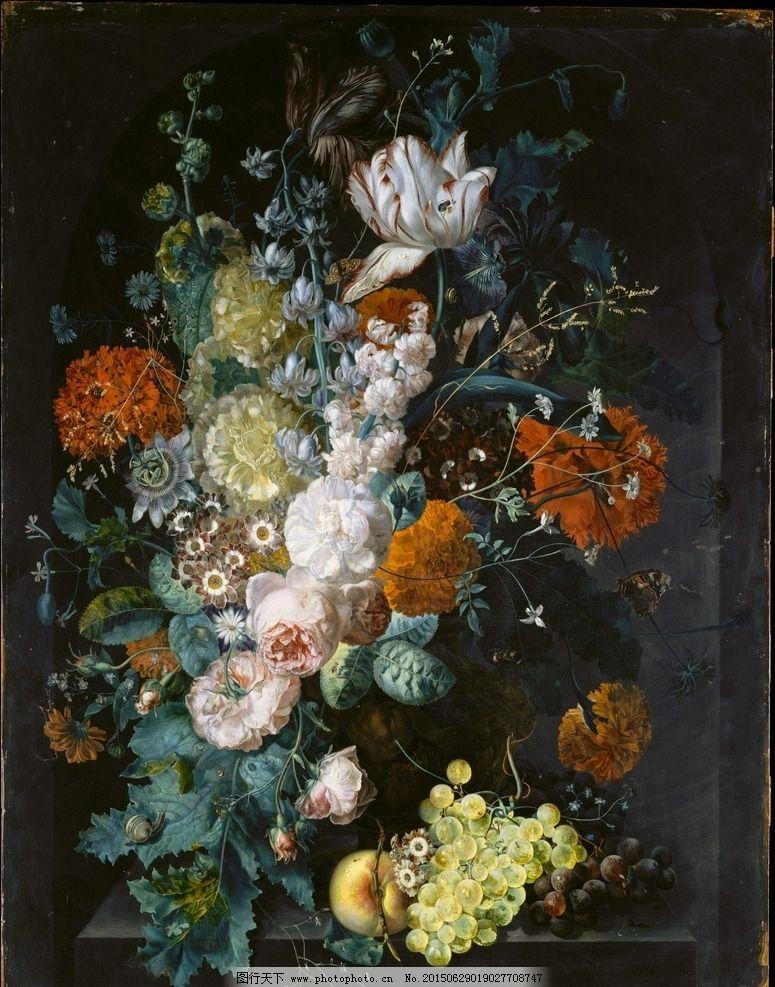 花卉 鲜花 装饰画 无框画 欧式油画 唯美 油画艺术 古典油画 写实油画