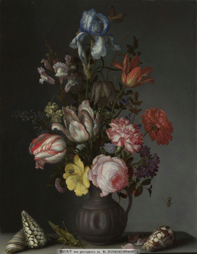 花卉 鲜花 装饰画 无框画 欧式油画 唯美 油画艺术 古典油画 写实油