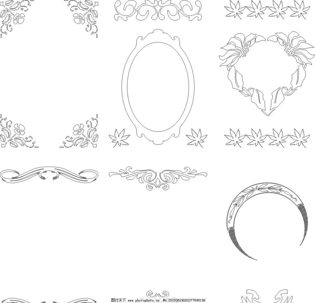 背景 古典背景 创意 简易 大方 美观 适用 花纹花边 黑色 线条 方框图片
