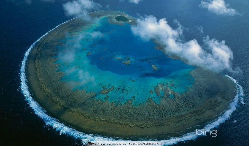 海洋 小岛 海岸线 海岸 唯美 电脑桌面屏保 鸟瞰 大海 白云  摄影