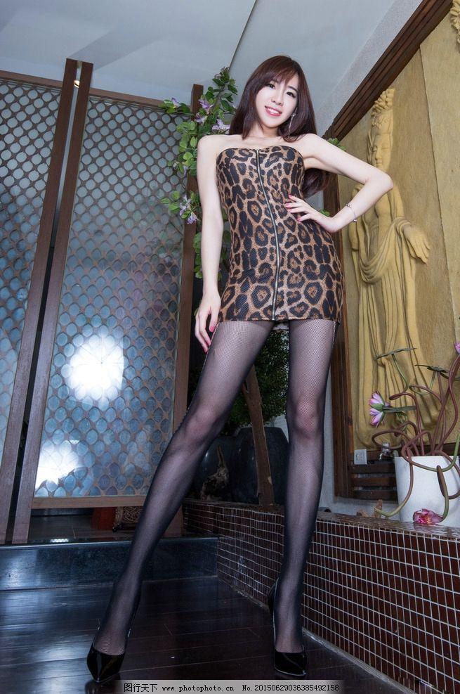 腿模旗袍丝袜 高跟鞋