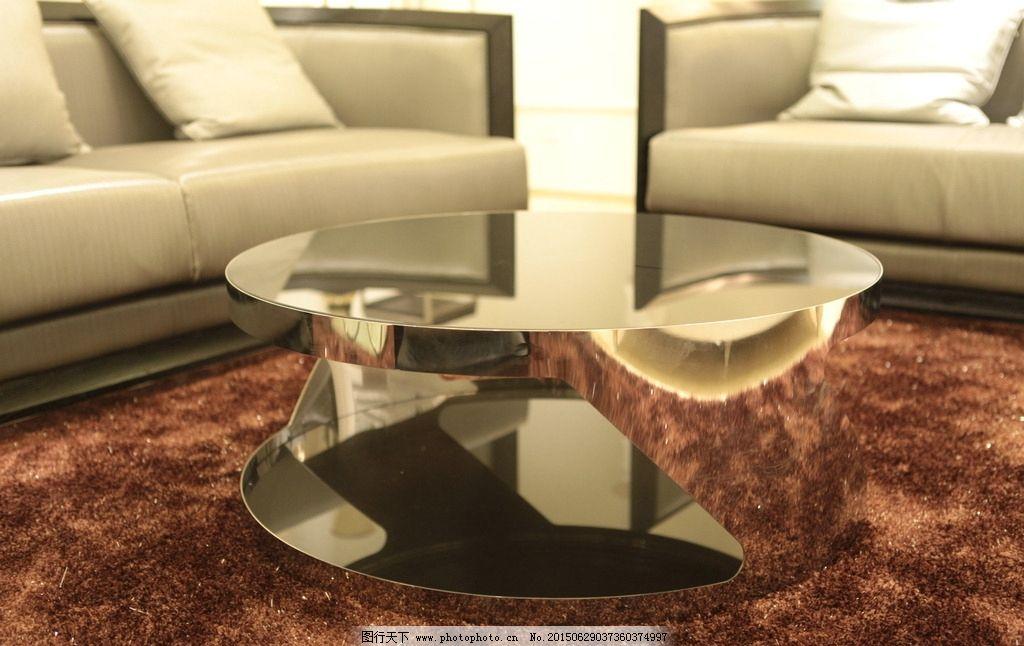圆形玻璃茶几 不锈钢茶几 组合沙发 灰色沙发 现代家具 欧式家具 地毯
