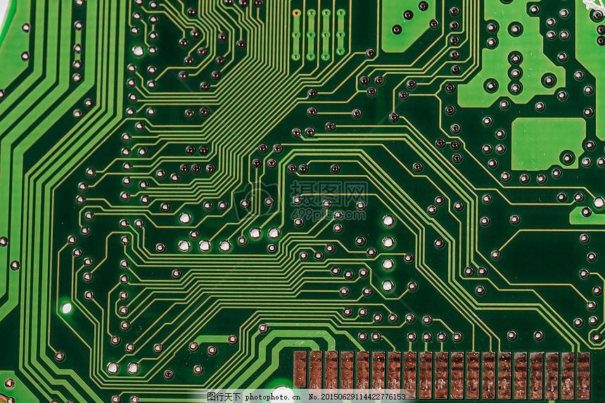 板 计算机 芯片 数据处理 焊点 特写 主板 它 电子产品 电路     红色