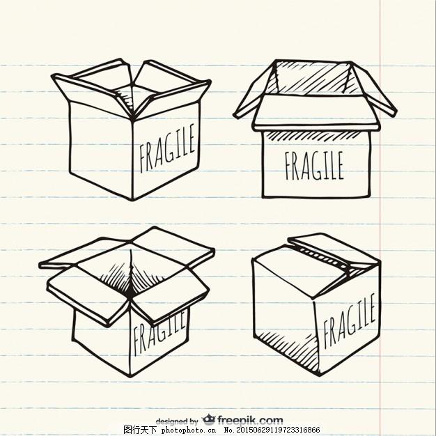 画箱 一方面 盒子 手绘 包装 素描 绘画 盒 纸板 画 脆弱 纸箱 商品