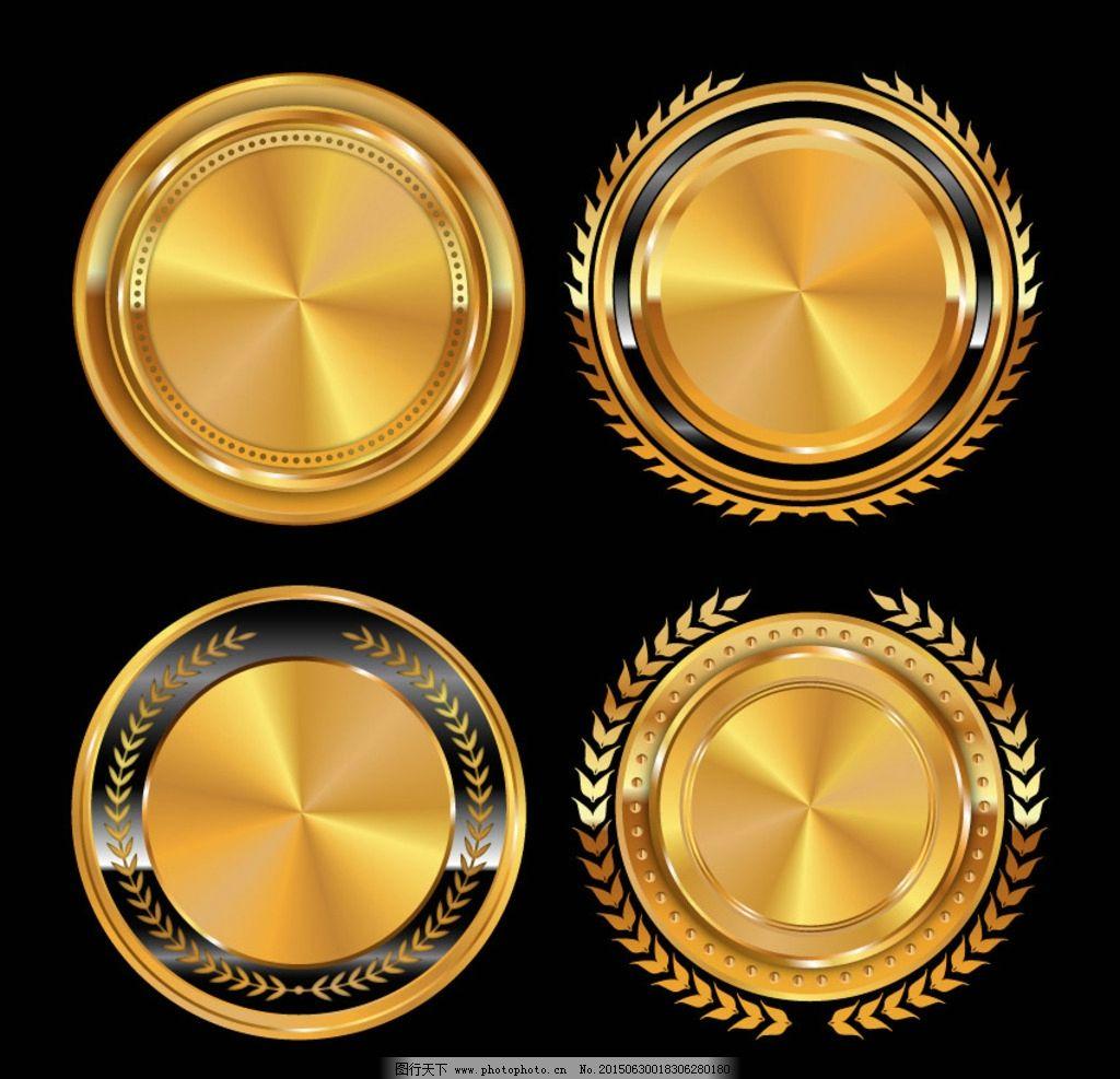 金色圆形头像背景图片